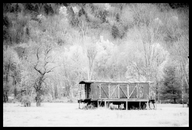 New York Central Abandoned Railroad Car in Arkville, New York